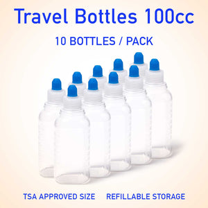 Refillable container bottles 100cc 10 count