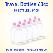 Load image into Gallery viewer, Refillable container bottles 60cc 10 count