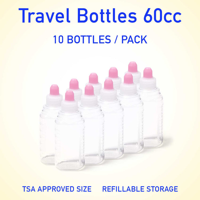 Refillable container bottles 60cc 10 count