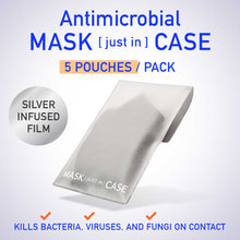 Load image into Gallery viewer, Antimicrobial Mask [just in] Case - Silver Infused Storage Pouch (5 count)