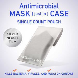Silver infused Antimicrobial mask case