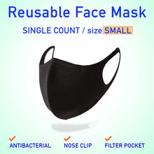 Load image into Gallery viewer, Antibacterial Reusable Mask with Nose Clip and Filter Pocket