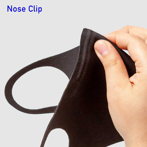 Antibacterial Reusable Mask with Nose Clip and Filter Pocket