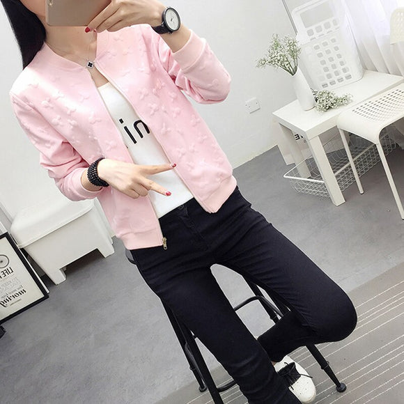 2021 Autumn white black bomber jacket women jacket and women's coat clothes ladies Short jacket cardigan jacket