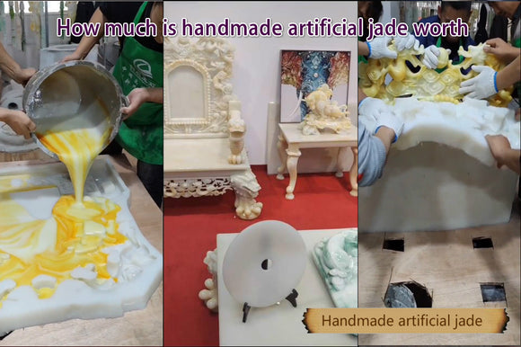 Handmade jade crafts making video process