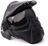 Tactical Paintball Mask Airsoft Masks Full Face with Lens Goggles Eye Protection for CS