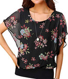 Women's Loose Casual Short Sleeve Chiffon Top T-Shirt Blouse