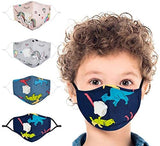 Children's Seamless Face Mask Bandanas, with 8 Activated Carbon Filter