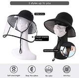 Siggi Womens UPF50+ Linen/Cotton Summer Sunhat Bucket Packable Hats w/Chin Cord face cover mask