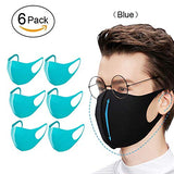 Washable Fashion Protective Face Mask, Fiber Face Mask Reusable Unisex Carbon Outdoor Anti-Haze Face for Cycling Camping Travel, Pink - 6 Pack (Black)