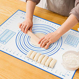 Silicone Pastry Mat Non Stick Extra Thick Baking Mat with Measurement Fondant Mat, Counter Mat, Dough Rolling Mat, Oven Liner, Pie Crust Mat