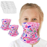 Kids Neck Gaiter for 6-14 Years Olds with Carbon Filter, UV Protection Face Cover