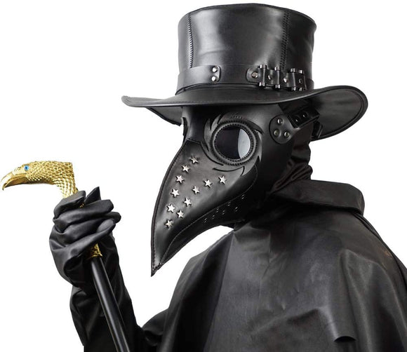 Plague Doctor Mask - Long Nose Bird Beak Steampunk Halloween Costume Props Mask