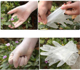 100 Pcs Disposable Clear Gloves, Disposable Food Prep Gloves for Cooking Cleaning Safety Food Handling, Powder and Latex Free (L)