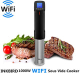 WIFI Sous Vide Cookers, 1000 Watts Stainless Steel Precise cooker, Thermal Immersion Circulator with Recipe, Digital Interface, Temperature and Timer for Kitchen, ISV-100W