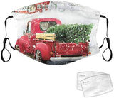 Christmas Face Cover Dustproof Windproof Foggy Haze Mask for Dust Sun Wind Cycling Mask