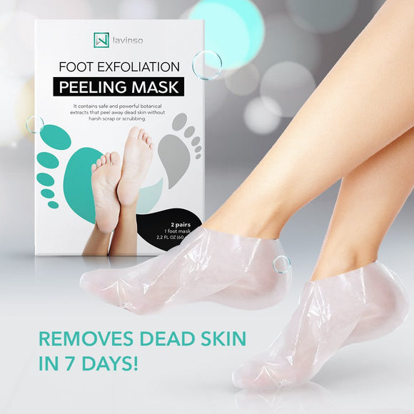 Foot Peel Mask Peeling Away Calluses and Dead Skin Cells, Make Your Feet Baby Soft