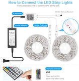 Led Strip Lights, LEDs Light Strips Kit Supply for Home, Bedroom, Kitchen