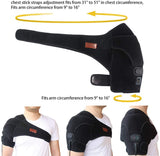 Massaging Heated Shoulder Wrap Brace