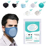 Face Mask Pad Gasket,Mask Replacement Pad Inner Pad Gasket Replacement Filter for Full Face Mask Gasket Pads (50pcs, Round)