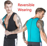 Men Sauna Sweat Vest Weight Loss Waist Trainer Vest Neoprene Tank Top Shapewear Slimming Shirt Workout Suit