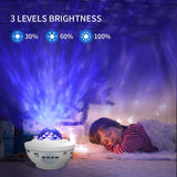 Night Light for Kids, LBell 3 in 1 Star Projector w/LED Nebula Cloud for Bedroom/ Game Rooms/ Home Theatre/ Night Light Ambiance with Bluetooth Speaker, Voice Control& Remote Control