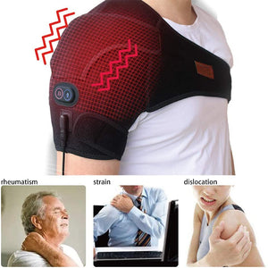 Massaging Heated Shoulder Wrap Brace tophatter