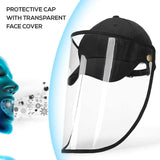 FayTun Safety Face Shield, Visor Mask Full Face Protective Shield Outdoor Anti-Fog, Anti-saliva, Anti-Spitting, Anti Splash Safety Facial Cap for Men and Women