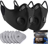 BASE CAMP M Plus Face Cover with 6 Extra Active Carbon Filters