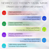 Led Face Mask,Led Light Therapy 7 Color Facial Skin Care Mask - with Clinically Proven Blue & Red Light Treatment Acne Photon Mask - Korea PDT Technology for Acne Reduction/Skin Rejuvenation