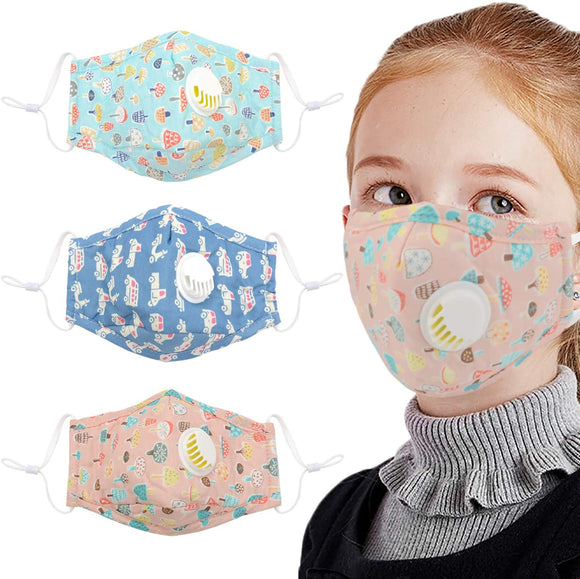 Fansport 3PCS Mouth Mask Dustproof Face Mouth Mask Cotton Mouth Cover for Baby Kids dust mouth mask