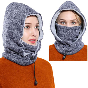 Face Mask Women Men Balaclava Fleece Hood Winter Face Mask Head Warmer Face Warmer for Snowboarding Cycling Dog Walking
