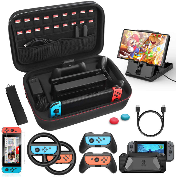 Case & Accessories Kit for Nintendo Switch