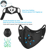 Sports Cycling Masks with Activated Carbon Filter, Cycling Mask for Walking Running Cycling