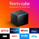 Fire TV Cube, hands-free with Alexa built in, 4K Ultra HD, streaming media player