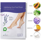2 Pairs Foot Peel Mask Exfoliant for Soft Feet in 1-2 Weeks, Exfoliating Booties for Peeling Off Calluses & Dead Skin, For Men & Women Lavender by Bea Luz