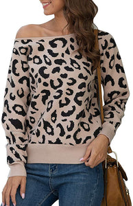 My friend wears this off-the-shoulder sweater with long sleeves and loose pullover is great!