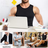 Mens Compression Shirt Slimming Body Shaper Vest Workout Tank Tops Abs Abdomen Undershirts