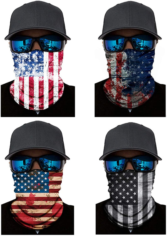 4-6 Pack Multifunctional Face Mask Bandanas Neck Gaiter Scarf Headband Headwear Balaclava Headwrap