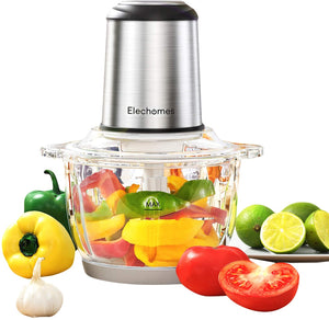 Electric Food Chopper & Meat Processor Bowl Blender Grinders for Onion Nuts, Clear Food Processing