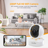 Wireless Security Camera, IP Camera 1080P HD, WiFi Home Indoor Camera for Baby/Pet/Nanny