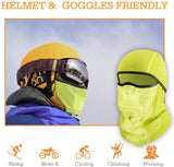 AstroAI Ski Mask Winter Balaclava Windproof Breathable Face Mask for Cold Weather (Superfine Polar Fleece, Neon Yellow)