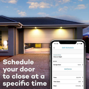 Smart Garage Door Opener, Wireless & Wi-Fi enabled Garage Hub with Smartphone Control