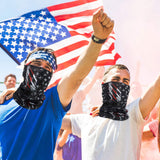 American Flag Face Mask Seamless Outdoor Microfiber Motorcycle Face Mask