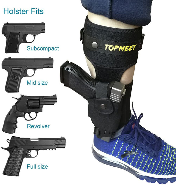 topmeet Upgraded Ankle Pistol Holster,not Ordinary - More Colors and More Sizes