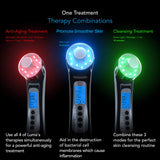Pure Daily Care Luma - 4 in 1 Skin Therapy Wand - Ion Therapy LED Light Machine - Wave Stimulation- Massage - Anti Aging - Lift & Firm Tighten Skin Wrinkles
