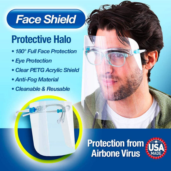 Face mask Glasses Shield protection from saliva Clear