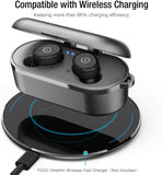 Bluetooth 5.0 Wireless Earbuds with Wireless Charging Case IPX8 Waterproof TWS Stereo Headphones in Ear