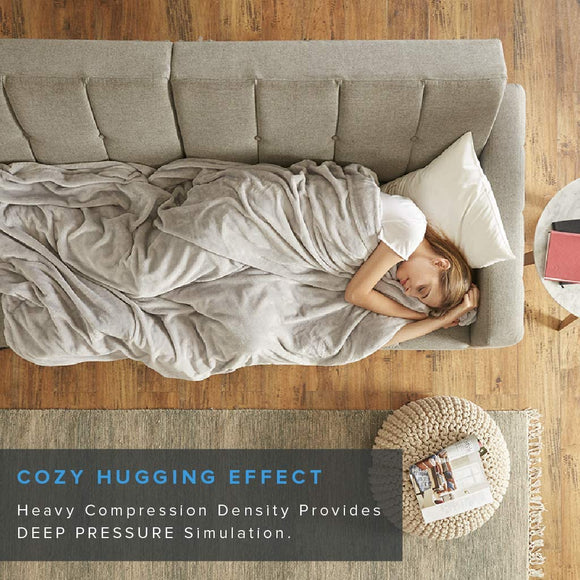 Degrees of Comfort Weighted Blanket w/ 2 Duvet Covers for Hot & Cold Sleepers|Advanced Nano-Ceramic Beads Deliver Durability & Silky Comfort