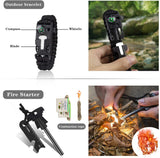 Gifts for Men Dad Husband Cool Gadgets Tools with Water Filter for Camping, Hiking, Adventures, Backpack, Fishing, Hurricane